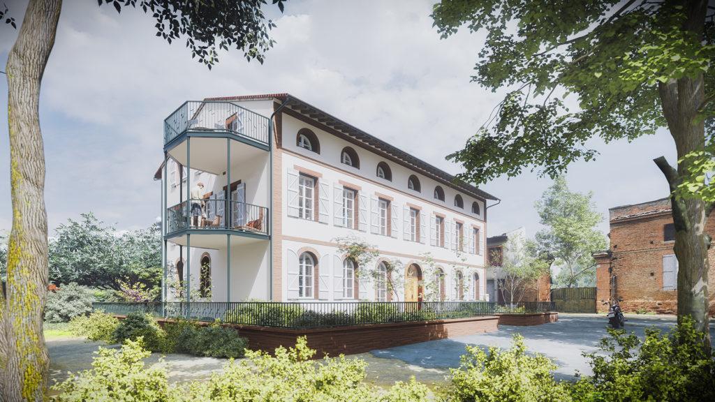 Magnanerie bâtiment écoconçue à Pompertuzat